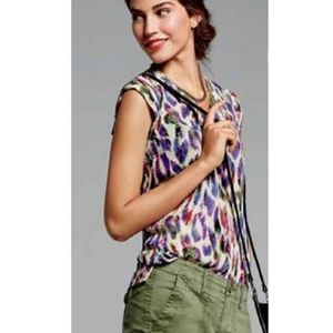 Cabi Feather Print Blouse
